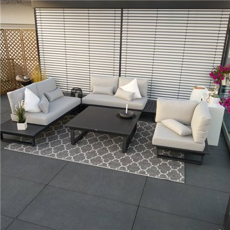ICM garden lounge garden furniture Grenoble aluminum alu anthracite lounge set module